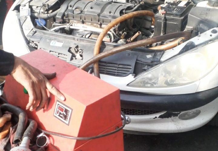 شستشوی رادیاتور آب 206 و رادیاتور بخاری